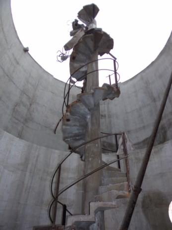 Déconstruction du château d'eau de Saint Macaire
